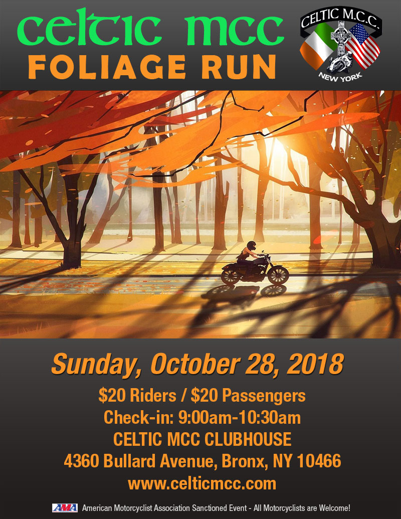 Celtic MCC 2018 Foliage Run