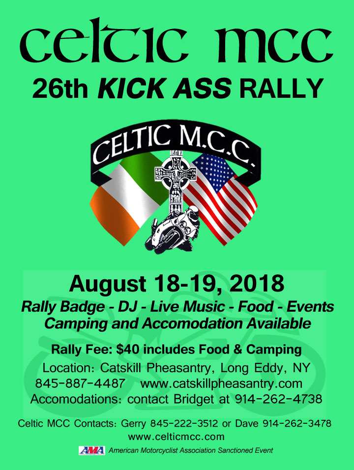 Celtic MCC 2018 Kick Ass Rally