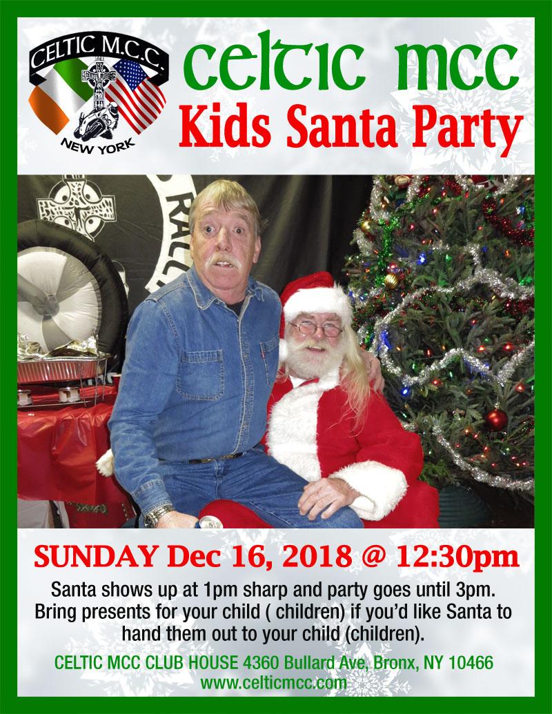 Celtic MCC Kids Santa Party 2018